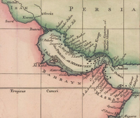 A 1745 Bellin map of the historical region of Bahrain