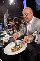 Zimmern judging the 2012 Capital Food Fight, a fundraiser for DC Central Kitchen