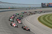 The IndyCar Series racing at Chicagoland