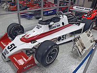 Janet Guthrie's Wildcat 3-DGS, which she drove to ninth place in the 1978 Indianapolis 500.