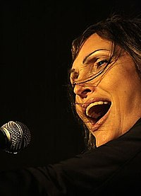 """Anna Oxa won the Sanremo Music Festival in 1989 with Fausto Leali, singing """"Ti lascerò"""". She also won ten years later with """"Senza pietà""""."""