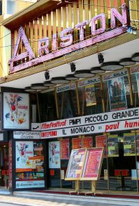 The Teatro Ariston hosts the Sanremo Music Festival since 1977. The only exception was 1990's contest, hosted at Sanremo's Palafiori.