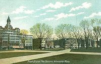 Worcester Common, established in 1669, pictured here in 1907