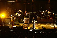 Bon Jovi in Montreal in 2007 during the Lost Highway Tour
