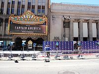 El Capitan Theatre in Hollywood, California before the movie's world premiere