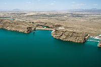 The Kajaki Dam in Helmand Province produces over 52 megawatts of electricity
