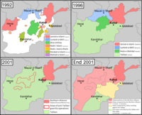 Development of the civil war from 1992 to late 2001