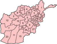 Afghanistan is divided into 34 provinces, which are further divided into a number of districts