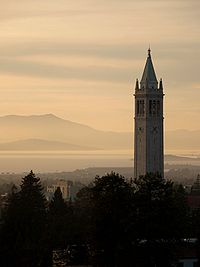 Sather Tower (known as the Campanile) at the University of California