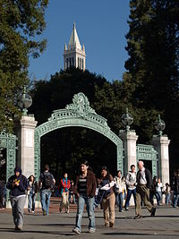 The Campanile and Sather Gate on the UC Berkeley campus