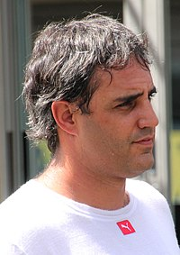 Juan Pablo Montoya (pictured in 2015) became NASCAR Nextel Cup Series' first foreign-born winner since 1974.