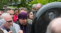 Steven Van Zandt at the dedication of the Alan Freed memorial in Lake View Cemetery in Cleveland Heights, Ohio, on May 7, 2016.