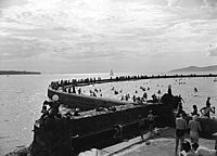 Second Beach pool in 1940