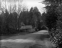 1928 photo of the home of Tim Cummings, the last person to live at Brockton Point