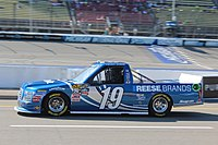 Hemric's No. 19 Reese Brands F-150 during practice for the 2016 Careers for Veterans 200 at Michigan International Speedway.