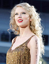 Swift during her Speak Now World Tour in Pittsburgh, 2011