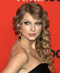 Swift at the 2010 Time 100 Gala in Manhattan, where she was honored.