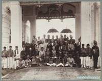First Federal Conference after Perak joined the FMS, held in Kuala Kangsar as a mark of British regard for Sultan Idris Murshidul Azzam Shah, c.1897