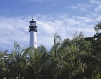 Cape Florida Light, a lighthouse on Cape Florida at the south end of Key Biscayne in Miami-Dade County, Florida. Constructed in 1825.