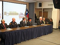 Abbott and John Cornyn highlight Crime Stoppers Month in San Antonio, 2008