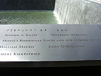 The names of the victims who were killed in the attack are inscribed in panel N-73 of the North Pool at the 9/11 Memorial, where the North Tower formerly stood.