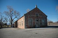 The historic West Jordan Ward Meeting House of the LDS Church. It is now the Museum of the Daughters of Utah Pioneers.