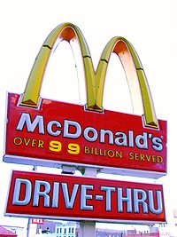 """By 1993, McDonald's had sold more than 100 billion hamburgers. The once widespread restaurant signs that boasted the number of sales, such as this one in Harlem, were left at """"99 billion"""" because there was space for only two digits. This McDonald's closed on September 9, 2019."""