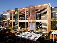 Pop-up restaurant at the Olympic Park in London, United Kingdom