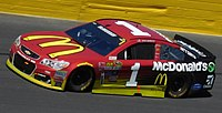 The McDonald's-sponsored car of Jamie McMurray in 2016
