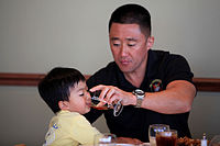 During the Father's Day luncheon held at the Pacific Views Event Center, Marine Corps Base Camp Pendleton
