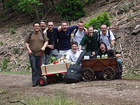 Hiking tour on father's day with smaller wagons.