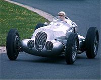 Hermann Lang at the wheel of a 1937 Mercedes-Benz W125