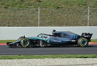 Mercedes AMG F1 W09 EQ Power+ which won Mercedes' fifth consecutive Constructors' Championship.
