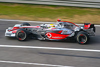 The 2008 McLaren-Mercedes MP4-23 helped Lewis Hamilton win the 2008 Formula One Championship.
