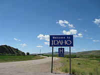 US 89 heading south along the Idaho/Wyoming state line