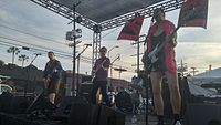 Queercore band Pansy Division performing in 2016