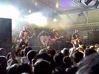 Rise Against performing in Segrate, Italy in 2012
