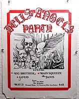 poster for May 21, 1970 event that featured both Big Brother and Joplin's new band, then billed as Main Squeeze