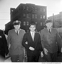 "Albert De Salvo, who claimed to be the ""Boston Strangler"", after being caught in Lynn, Massachusetts in 1967."