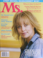 Theron on the cover of Ms. Magazine in 2005.