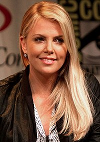 Theron at WonderCon in March 2012 promoting Prometheus