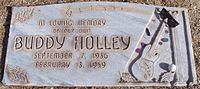 Holly's headstone in the City of Lubbock Cemetery