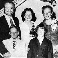 The Skeltons, circa 1957. Back from left: Red, wife Georgia, sister in law Maxine Davis. Front: Son Richard and daughter Valentina