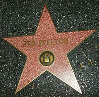 Skelton's star for his work in television on the Hollywood Walk of Fame