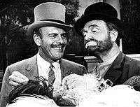 Skelton as Freddie the Freeloader (right) and Terry-Thomas