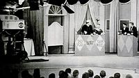 Skelton and Mickey Rooney at dress rehearsal for The Red Skelton Show of January 15, 1957. Skelton as a sailor and Rooney as his wife play contestants on a parody of Do You Trust Your Wife?. This was Skelton's return to television after his son Richard's leukemia diagnosis.