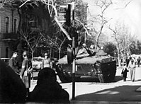Red Army paratroops during the Black January tragedy in 1990