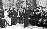 Scene from the Azerbaijani film In the Kingdom of Oil and Millions, 1916