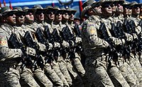 Contingent from the Azerbaijani military during the Moscow Victory Day Parade, 9 May 2015