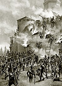 The siege of Ganja Fortress in 1804 during the Russo-Persian War of 1804–1813